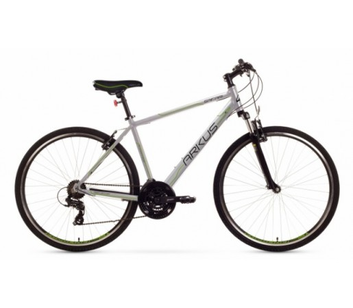 Bicicleta trekking Arkus Safari M Argintiu/Verde 2016