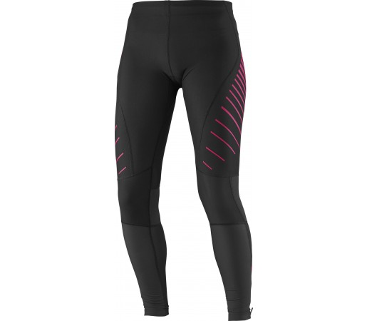 Pantaloni Salomon Endurance Tight W Roz-Negru