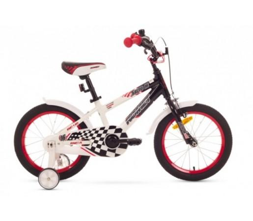 Bicicleta copii Romet Salto P 16 Alb/Negru 2016