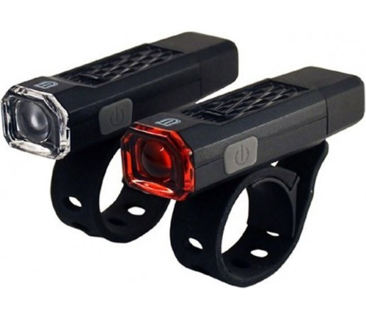 Set far si stop Union 1 led USB Negru