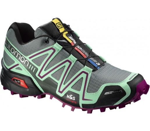 Incaltaminte alergare Salomon Speedcross 3 CS W Gri/Verde/Violet