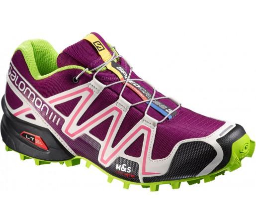 Incaltaminte alergare Salomon Speedcross 3 W Violet/Gri/Verde