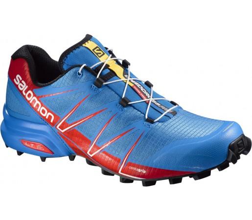 Incaltaminte alergare Salomon Speedcross Pro Albastru/Rosu/Negru