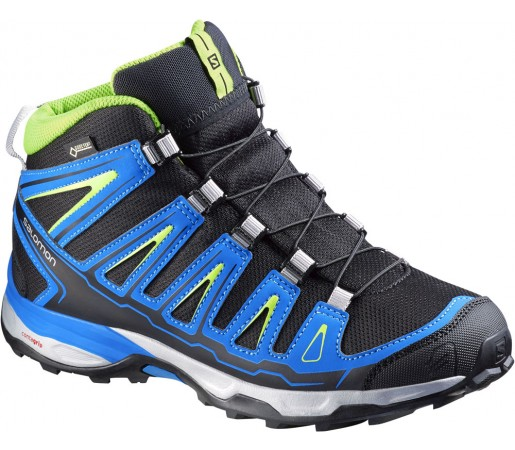 Incaltaminte hiking Salomon X-Ultra MID GTX J Negru/Albastru/Verde