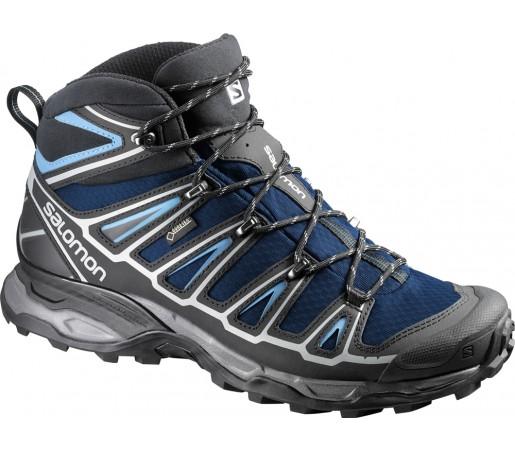 Incaltaminte hiking Salomon X Ultra Mid 2 GTX Albastru/Gri/Negru