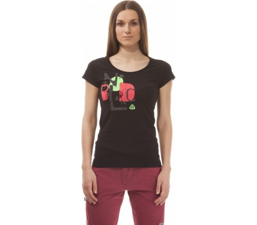 Tricou Nordblanc Side Ladie's Supersoft Elastan Negru