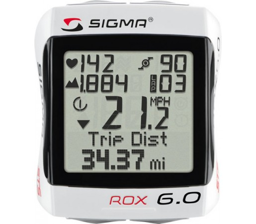 Ciclocomputer Sigma Rox 6.0 CAD Wireless Alb