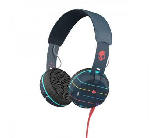 Casti audio Skullcandy Grind Stripes Negre