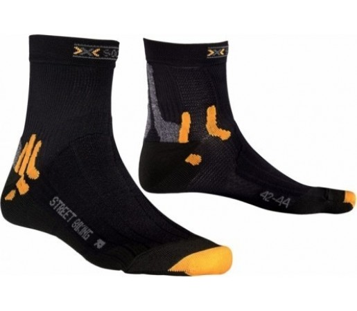 Sosete X-Socks Street Biking Black/Orange