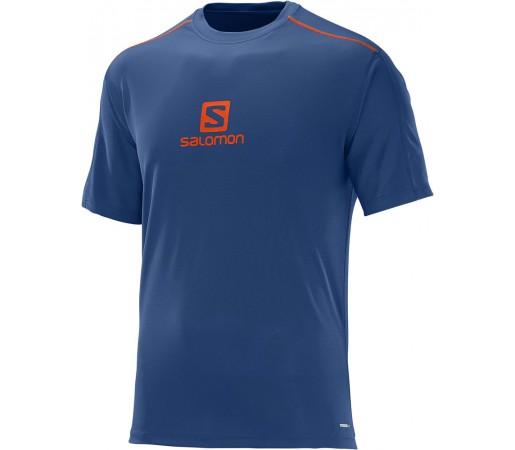 Tricou Salomon Stroll Logo SS Tee M Albastru Inchis