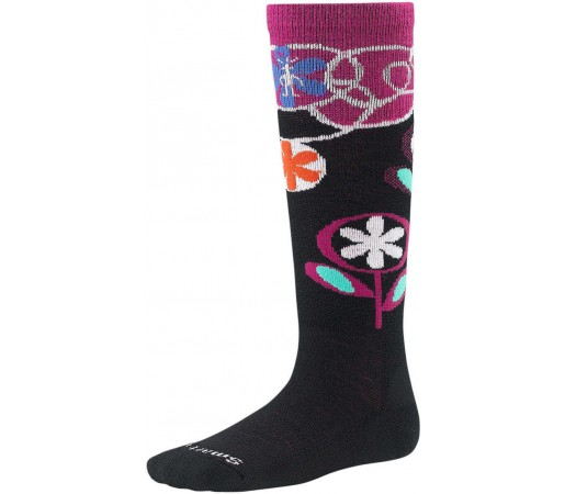 Sosete SmartWool Kids Wintersport Flower Patch Socks Black