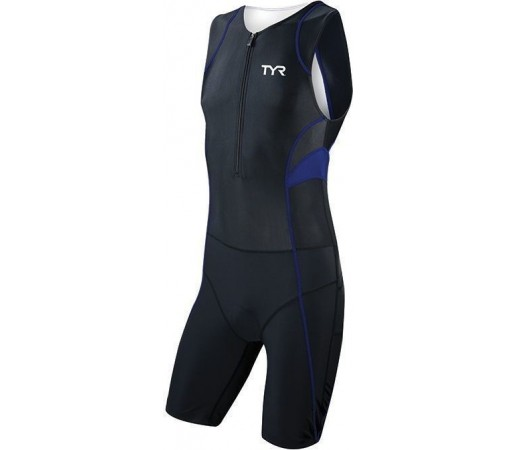 Costum triatlon Tyr Competitor Trisuit w/Front Zipper negru/albastru 2013