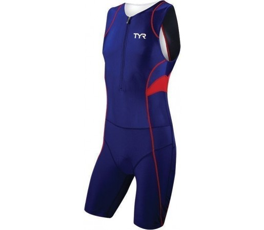 Costum triatlon Tyr Competitor Trisuit w/Front Zipper  navy/rosu 2013