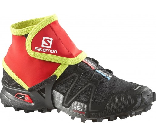 Protectii Alergare Salomon Trail Gaiters Low Rosu