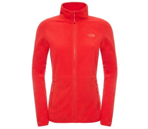 Polar The North Face W 100 Glacier Full Zip Rosu