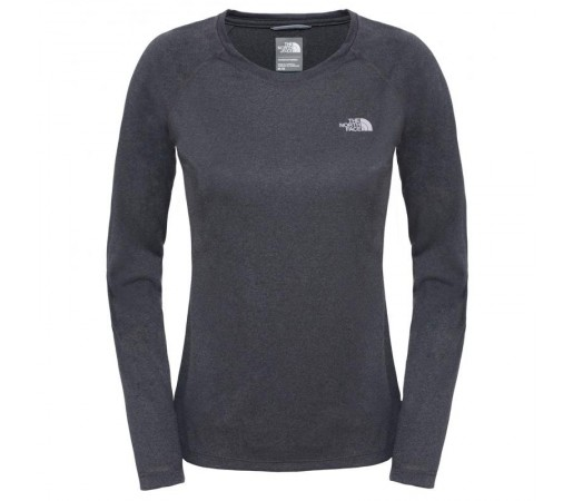 Bluza The North Face W Reaxion Amp L/S Crew Eu Gri