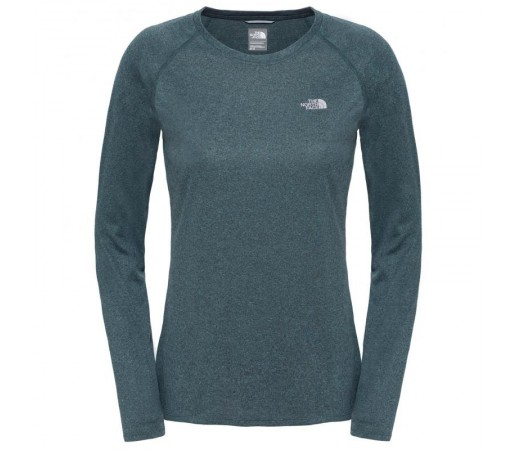 Bluza The North Face W Reaxion Amp L/S Crew Eu Verde