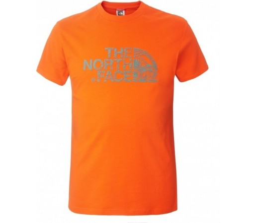 Tricou The North Face M S/S Woodcut Dome Portocaliu