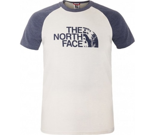 Tricou The North Face M S/S Seasonal Print Raglan Alb