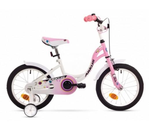 Bicicleta copii Arkus Tola 16 S Alb/Roz 2016