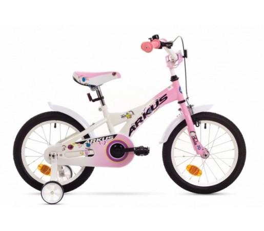 Bicicleta copii Arkus Tola 16 Y Alb/Roz 2016