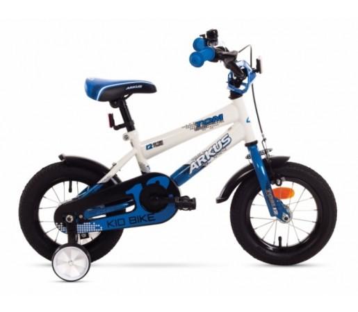Bicicleta copii Arkus Tom 12 Alb/Albastru 2016
