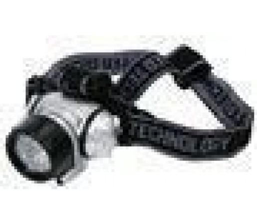 Lanterna frontala cu LED-uri HQ Black- Silver
