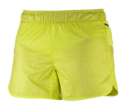 Pantaloni scurti Salomon W Trail Runner Short Galbeni