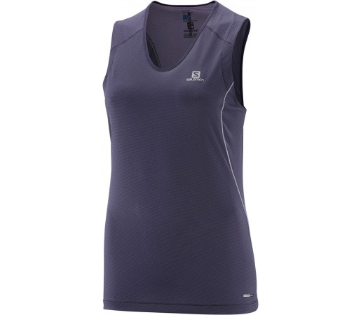 Tricou Salomon Trail Runner Sleeveless Tee W Violet