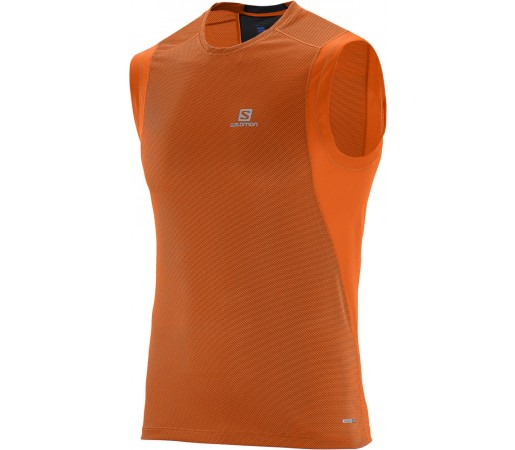Tricou Salomon Trail Runner Sleeveless Tee M Portocaliu