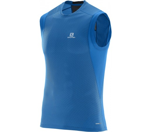 Tricou Salomon Trail Runner Sleeveless Tee M Albastru