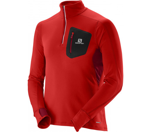 Bluza Salomon Trail Runner Warm HZ LS M Rosie