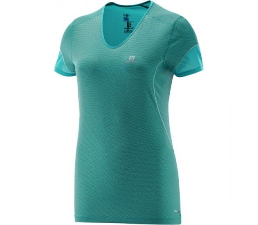 Tricou Salomon W Trail Runner SS Verde