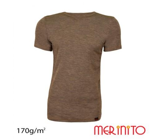 Tricou Merinito Barbati Maro/ Bej