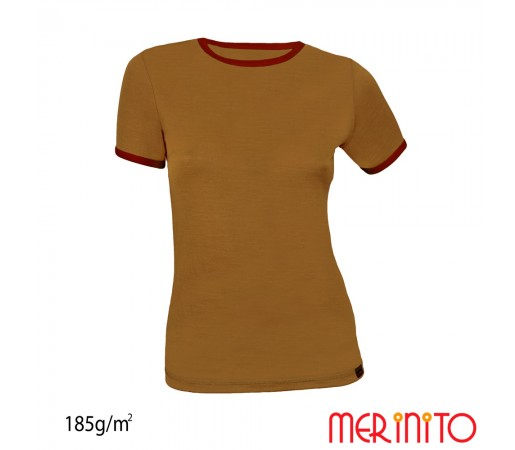 Tricou Dama Merinito Olive/ Visiniu
