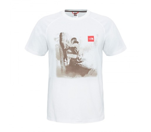Tricou The North Face M S/S History Alb