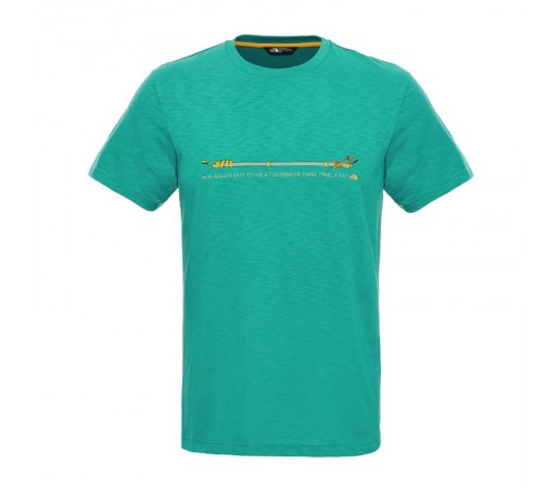 Tricou The North Face M S/S Listen To Mom Turquoise