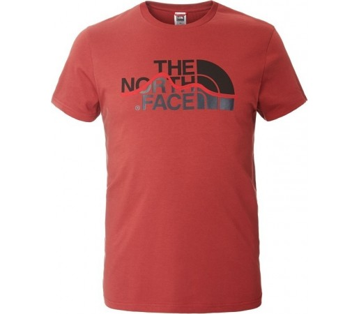 Tricou The North Face M S/S Mountain Line Rosu