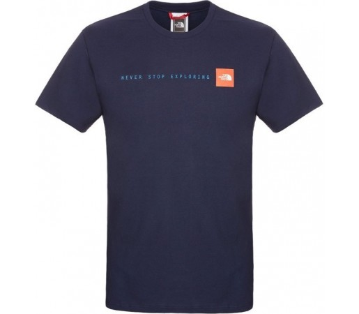 Tricou The North Face M S/S Never Stop Exploring Albastru