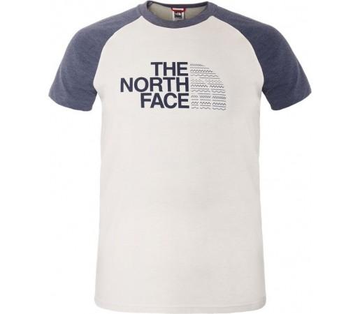 Tricou The North Face M S/S Seasonal Print Raglan Alb/Mov
