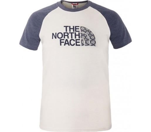 Tricou The North Face M S/S Seasonal Print Raglan Alb/Albastru