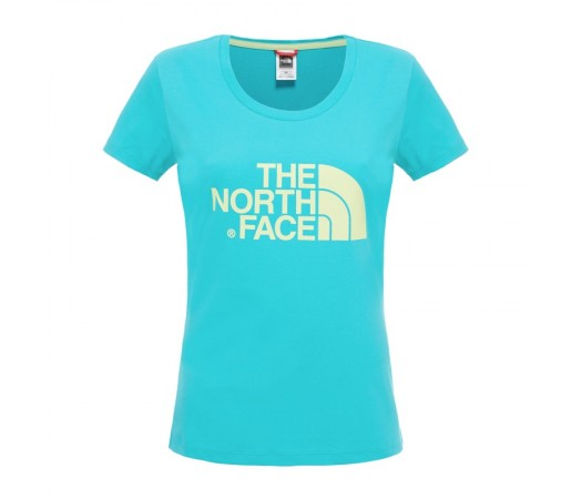 Tricou The North Face W S/S Easy Verde/Galben