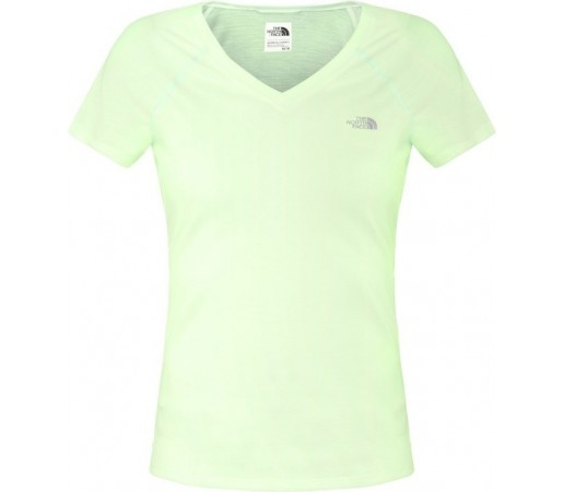 Tricou The North Face W S/S Reaxion V-Neck Verde