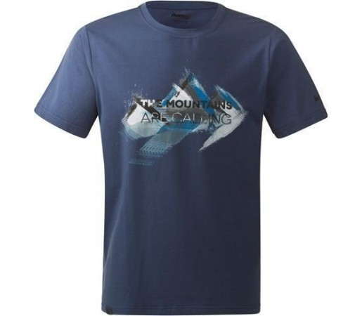 Tricou Bergans Mountains Dusty Blue