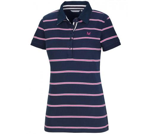 Tricou Crew Clothing Classic Jersey Stripe Albastru/Alb/Roz