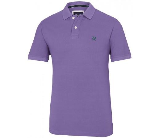 Tricou Crew Clothing Classic Pique Violet