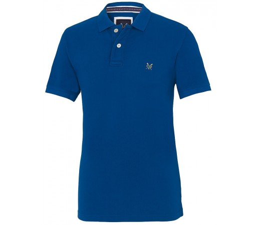 Tricou Crew Clothing Classic Pique Albastru
