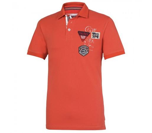 Tricou Crew Clothing GBR Polo Portocaliu