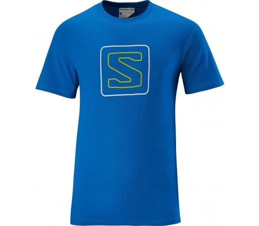 Tricou Salomon Poly Logo Tee M Blue 2013