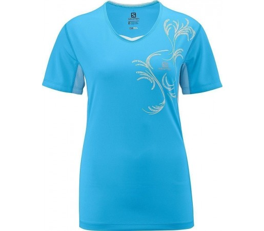 Tricou Salomon Start Tee W Blue